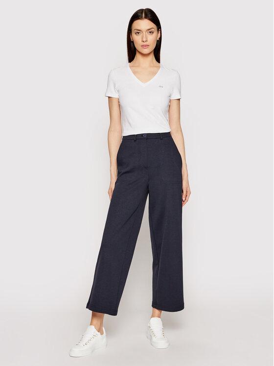 Lacoste Lacoste T-shirt TF0999 Blanc Slim Fit