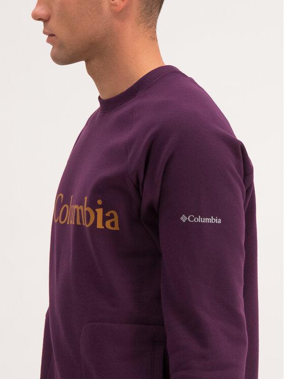 Columbia Columbia Felpa Lodge Crew 1861746 Viola Regular Fit
