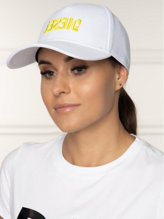 Diesel Diesel Καπέλο Jockey Cinidies-Ra Hat 00SR3X 0LAOI 100 Λευκό