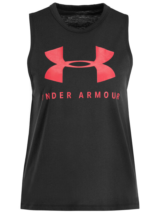 Under Armour Under Armour Top UA Sportstyle Graphic Muscle 1344150 Gri Regular Fit