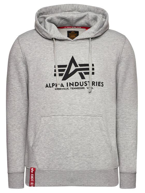 Alpha Industries Alpha Industries Μπλούζα Basic 178312 Γκρι Regular Fit