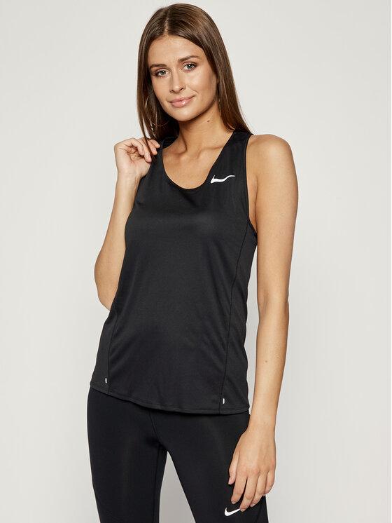 Levně Nike Funkční tričko City Sleek CJ2011 Černá Standard Fit