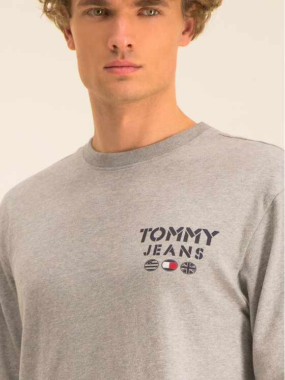 Tommy Jeans Tommy Jeans Longsleeve Tjm Bubbled Flags DM0DM07441 Γκρι Regular Fit