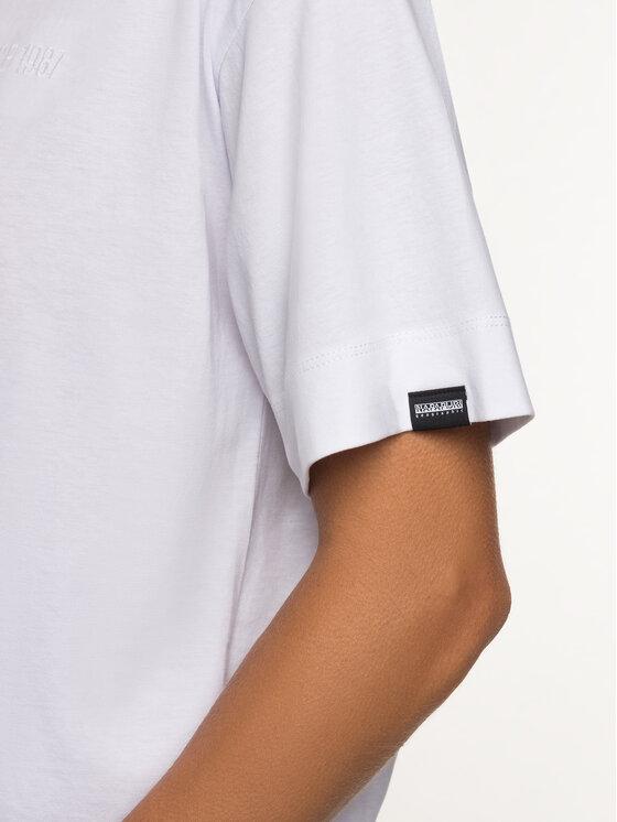 Napapijri Napapijri T-Shirt Sait Cropped N0YINT Λευκό Oversize