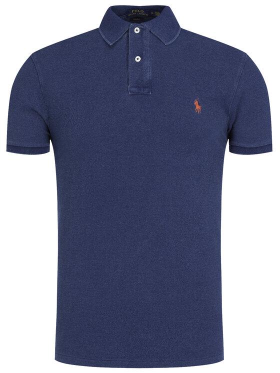Polo Ralph Lauren Polo Ralph Lauren Polo 710536856 Granatowy Slim Fit