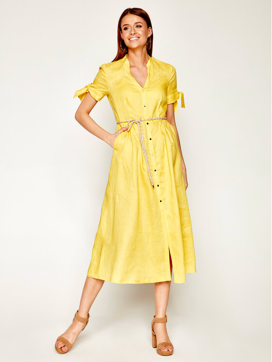 Pennyblack Marškinių tipo suknelė Manuela 22210420 Geltona Regular Fit
