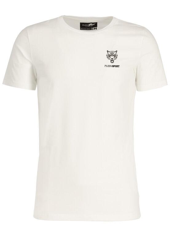 Plein Sport Plein Sport Marškinėliai F19C MTK3802 SJY001N Balta Regular Fit