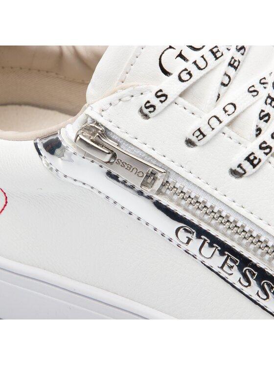 Guess Guess Sneakersy FM5LLO LEA12 Biela