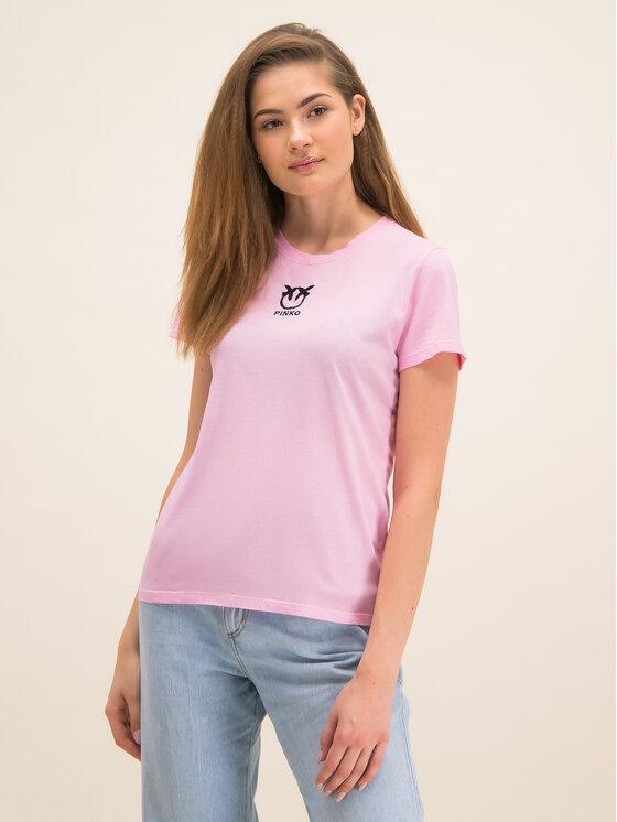 Pinko Pinko Tričko Bussolano PE 20 BLK01 1G14XB Y651 Ružová Regular Fit