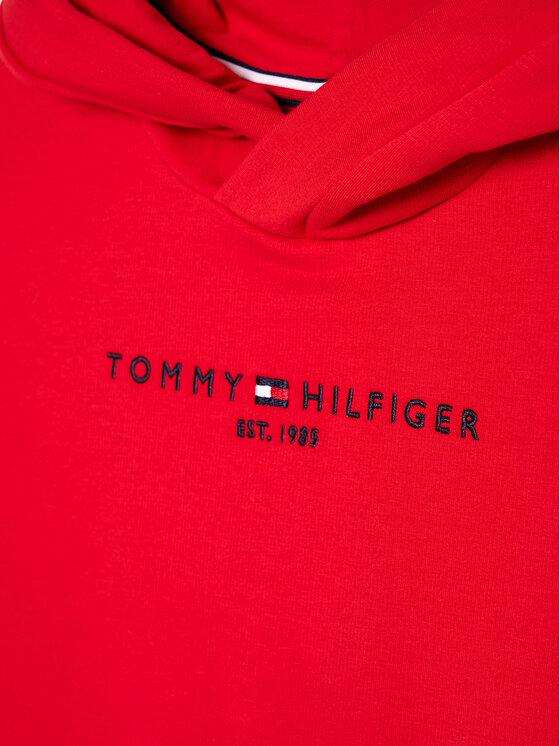 Tommy Hilfiger Tommy Hilfiger Bluza Essential KG0KG05216 D Czerwony Regular Fit