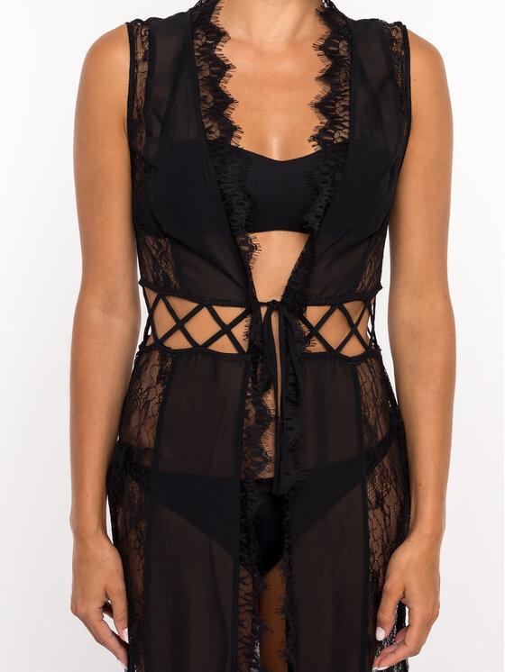 Guess Guess Плажна рокля Graphic 1 Meson E92H08 WO039 Черен Regular Fit