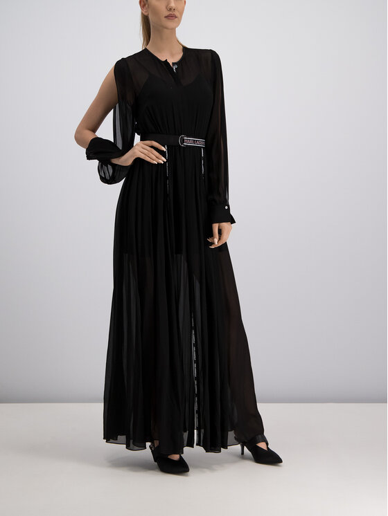 KARL LAGERFELD KARL LAGERFELD Φόρεμα βραδινό 91KW1313 Μαύρο Regular Fit