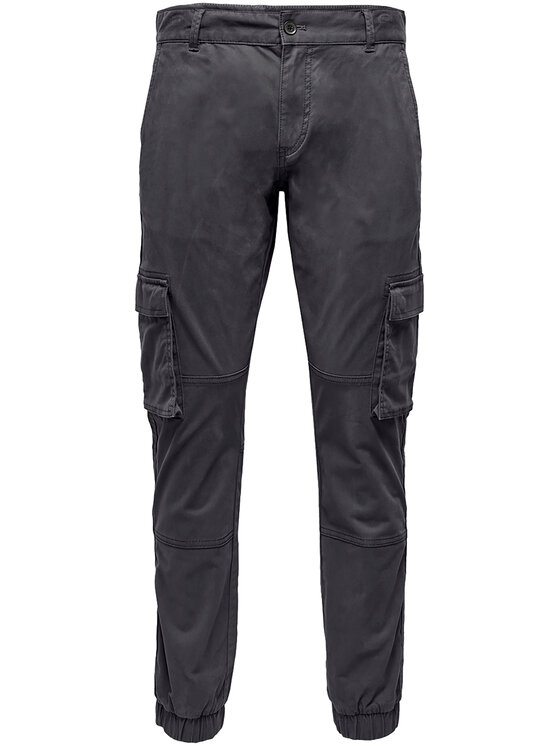 Only & Sons Only & Sons Spodnie materiałowe Cam Stage 22016687 Szary Regular Fit