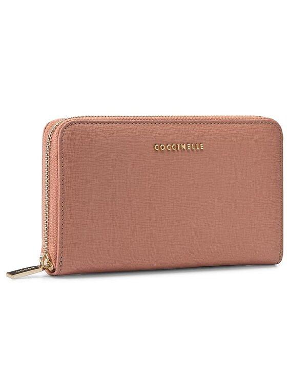Coccinelle Coccinelle Duży Portfel Damski AW1 Metallic Saffiano E2 AW1 11 32 01 Różowy