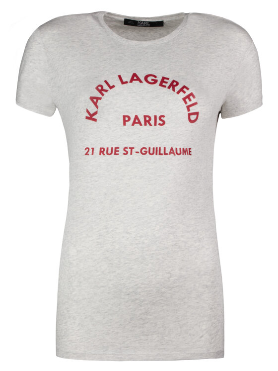 KARL LAGERFELD KARL LAGERFELD T-Shirt 81KW1729 Grau Regular Fit