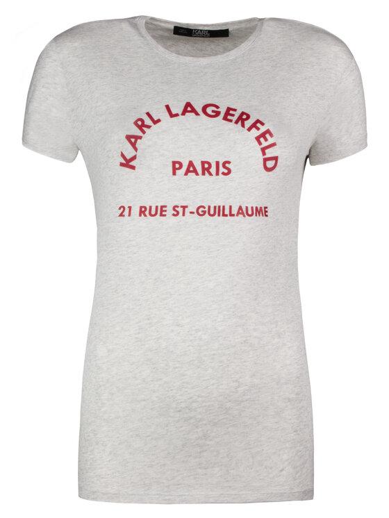 KARL LAGERFELD KARL LAGERFELD T-Shirt 81KW1729 Szary Regular Fit