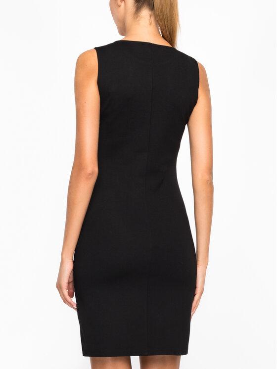 Desigual Desigual Коктейлна рокля 19WWVK28 Черен Slim Fit