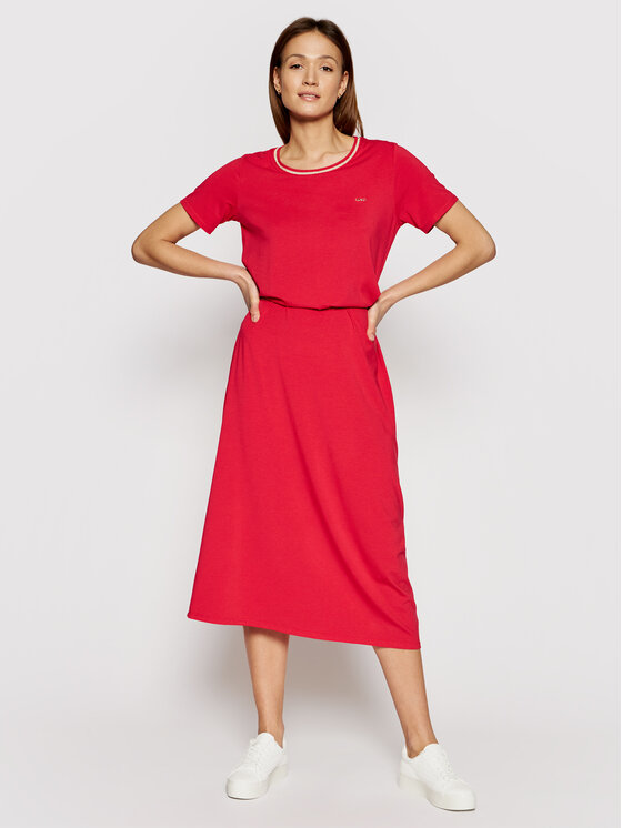 Liu Jo Sport Kasdieninė suknelė TA1034 J6072 Raudona Regular Fit