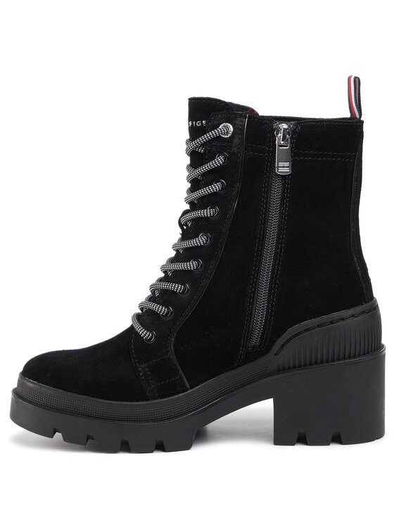 Tommy Hilfiger Tommy Hilfiger Bokacsizma Sporty Chunky Lace Up Bootie FW0FW04338 Fekete