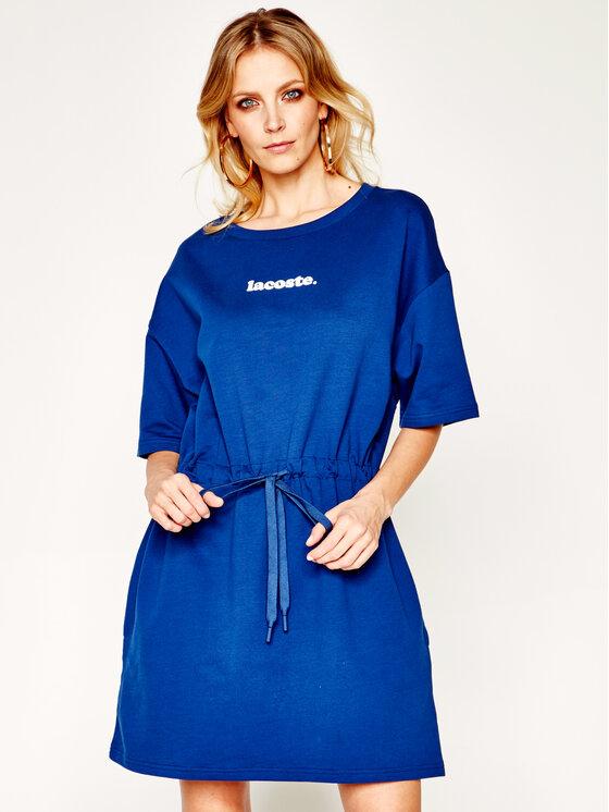 Lacoste Lacoste Kasdieninė suknelė EF5761 Tamsiai mėlyna Regular Fit