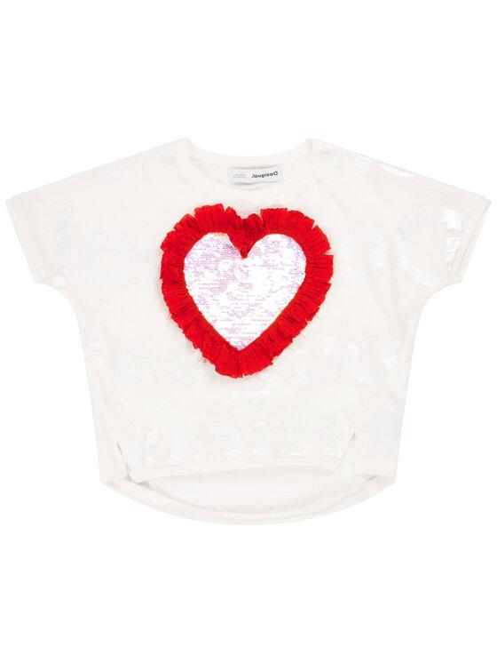 Desigual Desigual T-Shirt Northampton 20SGTK28 Biały Regular Fit