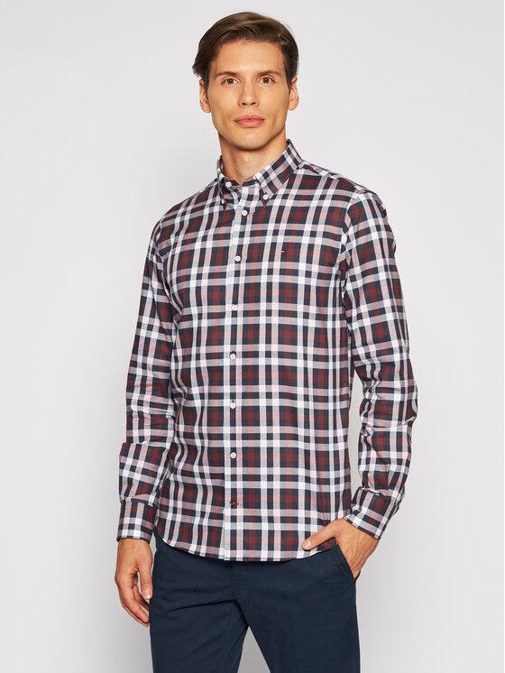 Tommy Hilfiger Tailored Marškiniai Cl Multi Check MW0MW18972 Spalvota Regular Fit
