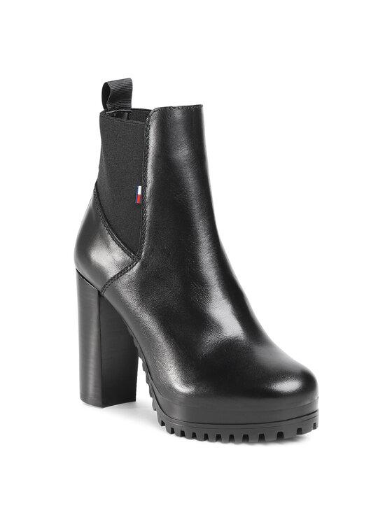 Tommy Jeans Aulinukai Essenstial Cleated Heeled Boot EN0EN01075 Juoda