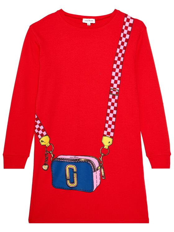 Little Marc Jacobs Little Marc Jacobs Sukienka codzienna W12333 S Czerwony Regular Fit