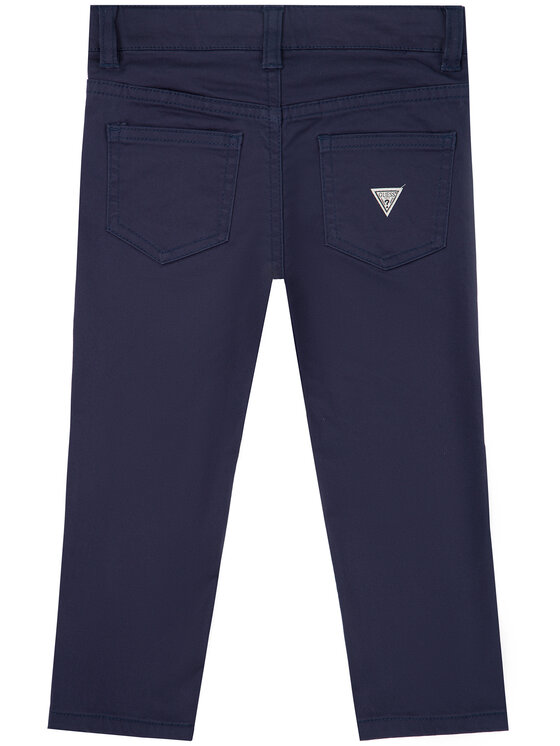 Guess Guess Текстилни панталони N01B01 W7RQ0 Тъмносин Regular Fit