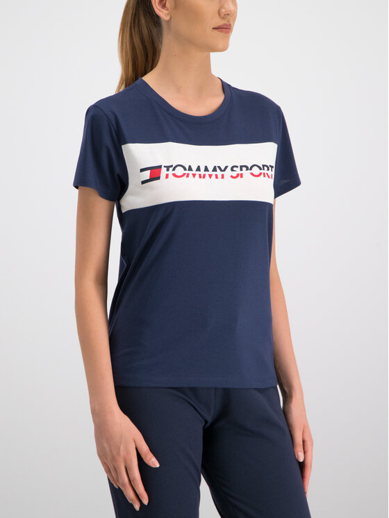 Tommy Sport Tommy Sport Tričko S10S100123 Tmavomodrá Regular Fit