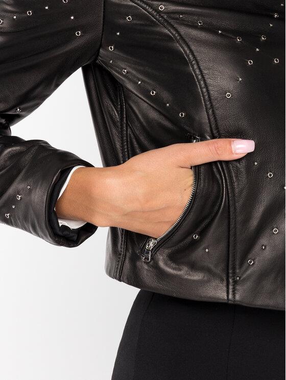 Patrizia Pepe Patrizia Pepe Veste en cuir 8L0328/A5K1-K103 Noir Fitting Fit