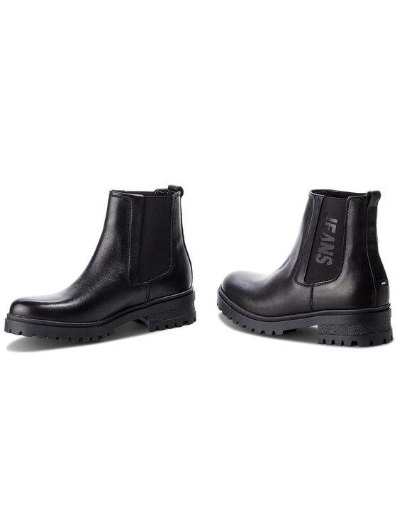 Tommy Jeans Tommy Jeans Bottines Chelsea Essential Cleated Ch EN0EN00242 Noir