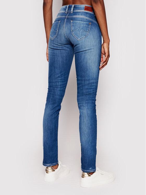 Pepe Jeans Pepe Jeans Jeansy New Brooke PL200019 Niebieski Slim Fit