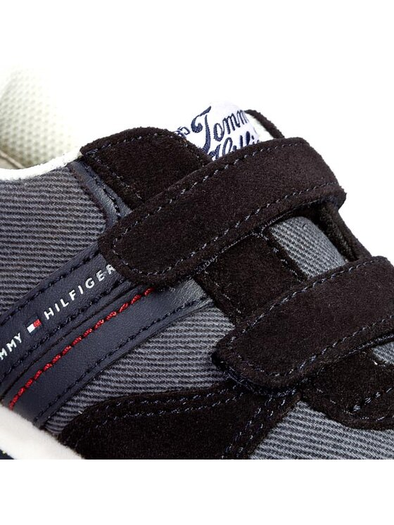 Tommy Hilfiger Tommy Hilfiger Félcipő Jagger JR 4C FB456817976 Kék