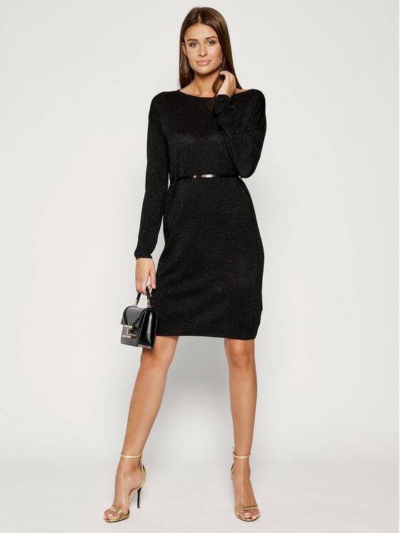 Liu Jo Liu Jo Плетена рокля C69265 MA32H Черен Regular Fit