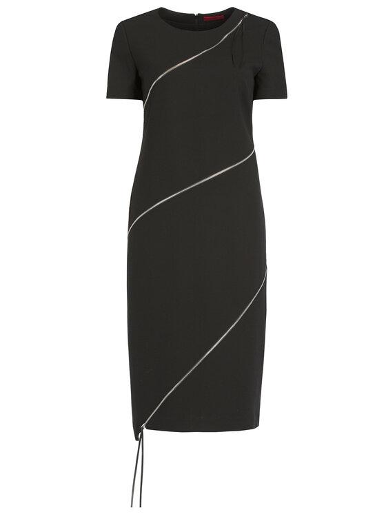 Hugo Hugo Коктейлна рокля Kedela 50419950 Черен Regular Fit