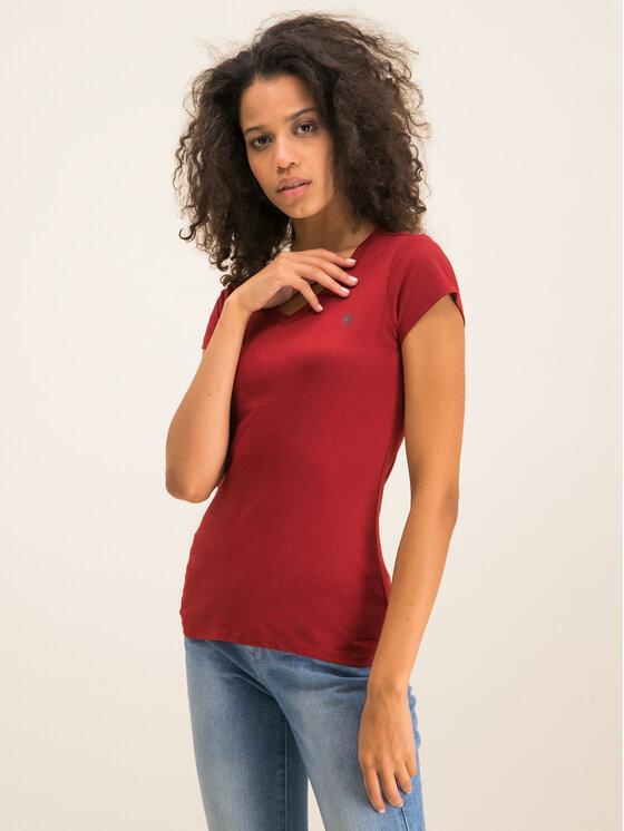 G-Star Raw G-Star Raw T-Shirt Eyben D04434-2757-5298 Bordowy Slim Fit