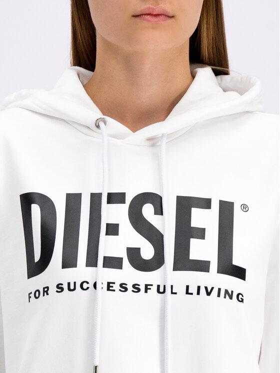 Diesel Diesel Trikotažinė suknelė D-Iles-T 00SYWA 0IAJH Balta Oversize