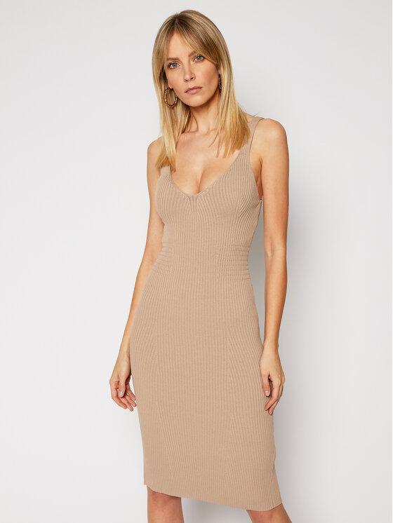 Guess Sukienka dzianinowa W0GK26 R2GK1 Brązowy Slim Fit
