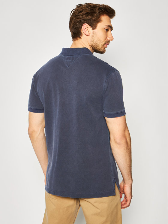 Tommy Jeans Tommy Jeans Polo marškinėliai Garment Dye DM0DM07800 Tamsiai mėlyna Regular Fit