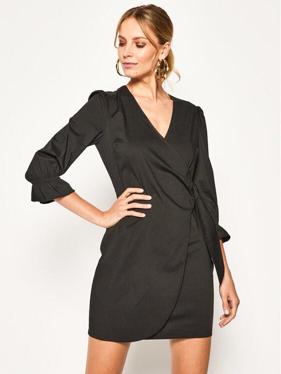 Patrizia Pepe Sukienka codzienna 2A2104/A23-K103 Czarny Regular Fit
