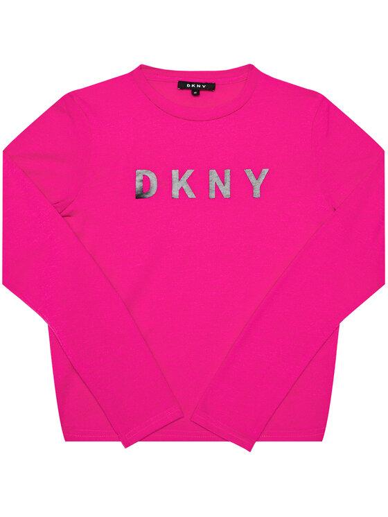 DKNY DKNY Bluzka D35R14 Różowy Regular Fit