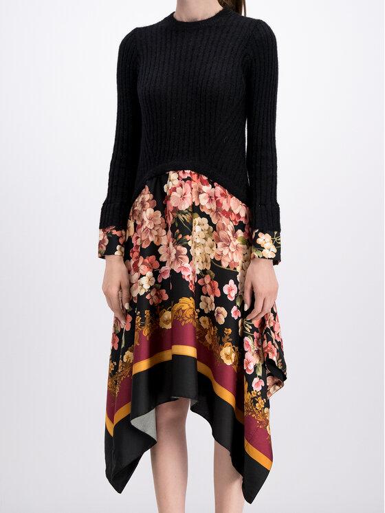 TwinSet TwinSet Úpletové šaty 192TP3060 Čierna Regular Fit