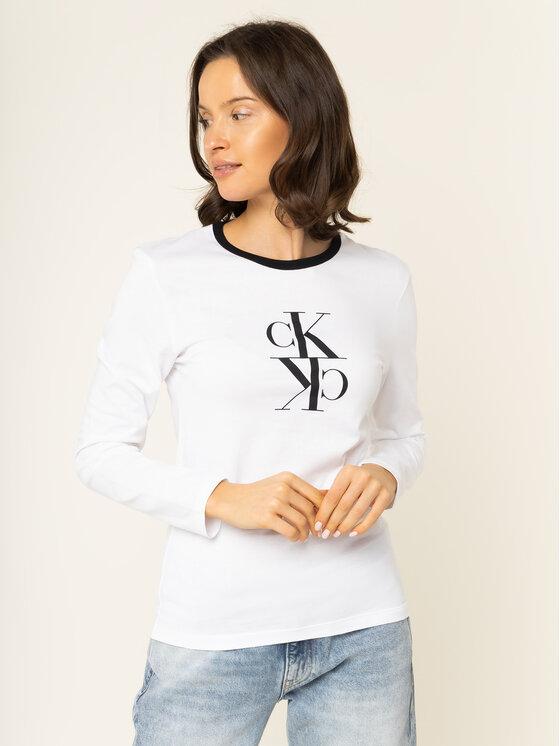 Calvin Klein Jeans Calvin Klein Jeans Bluse J20J213067 Weiß Regular Fit