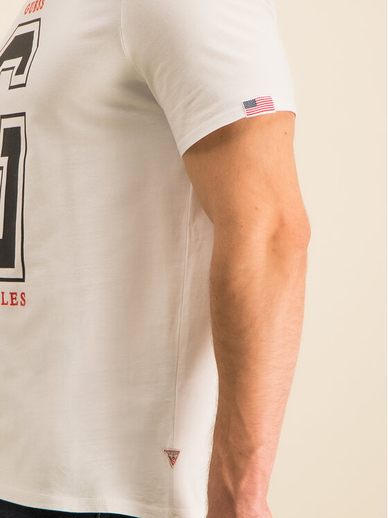 Guess Guess T-Shirt M94I59 K8FQ0 Biały Regular Fit