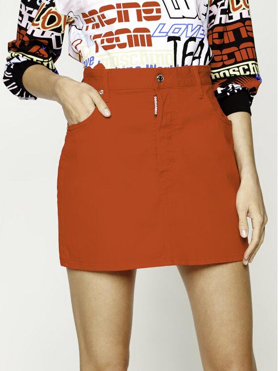 Dsquared2 Džinsinis sijonas Bull Garment Dalma S80MA0002.S39781 Raudona Slim Fit