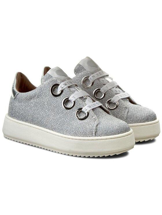 TwinSet TwinSet Laisvalaikio batai Sneakers CS7PH1 Sidabrinė