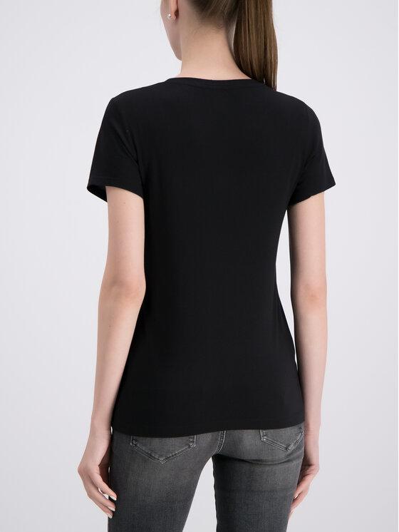 Guess Guess T-Shirt W93I87 R5JK0 Μαύρο Regular Fit