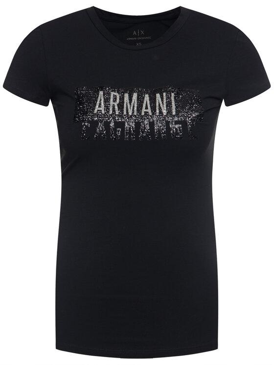 Armani Exchange Armani Exchange Tričko 6GYT91 YJC7Z 1200 Čierna Slim Fit