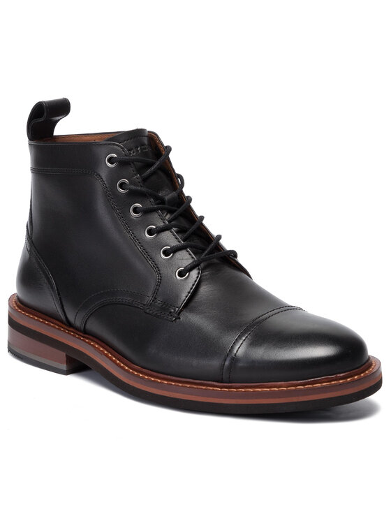 Tommy Hilfiger Tommy Hilfiger Auliniai batai Smooth Leather Lace Up Boot FM0FM02435 Juoda